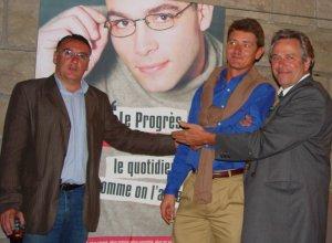 Le Progrès : Marc Jean, <b>Damien Gouy-Perret</b> et Jean-Pierre Guillaut - 3