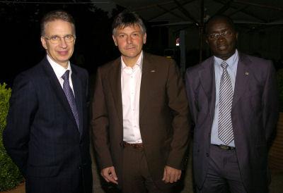 1. Didier Moreau, directeur du Hilton, Olivier Delorme,