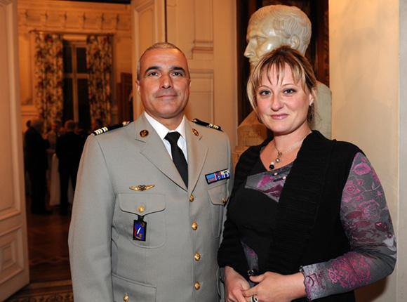 10. Le colonel Thierry Pellissier et son épouse Stéphanie