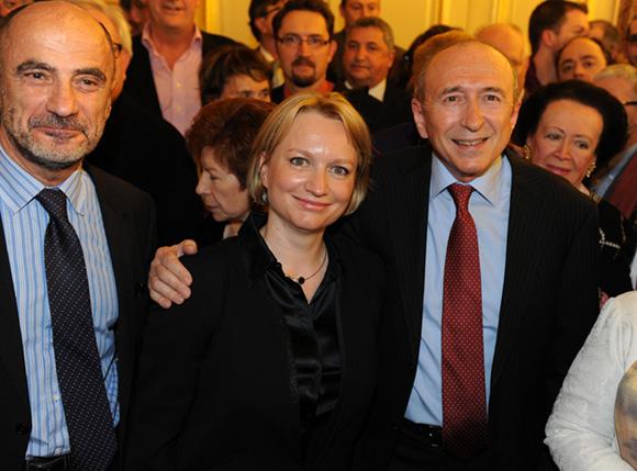 12. Jean-Michel Daclin, adjoint au rayonnement international, Gérard Collomb, sénateur maire de Lyon et son épouse Caroline