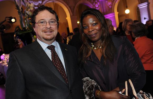 13. Jean-Christophe Bessy, consul du Gabon et son épouse Andrya