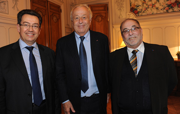 13. Philippe Cochet, député-maire de Caluire, Alain Mérieux et Kamel Kabtane, recteur de la grande mosquée de Lyon