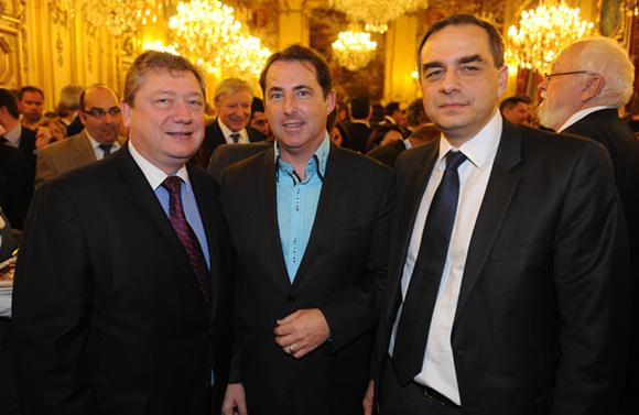 15. Bruno Cabut, vice-président du Sirha, Jacques Marcout (Prisme International) et Christophe Thevenon (Cofely GDF Suez)