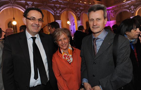 16. Davide Kimelfeld, vice-président du grand Lyon, Marie Guyot et le père Thierry Magnin, recteur de la faculté catholique de Lyon