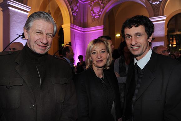 17. Claude Polidori (Maison Victoire), Marie-Odile Fondeur, adjointe au Commerce et Jacques Descours (CCI Lyon)