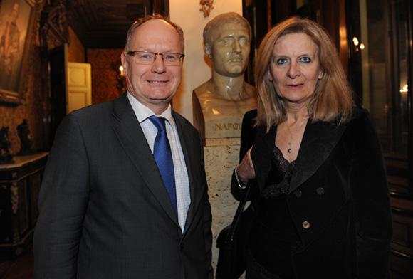 19. Gilles de Baillencourt, directeur diocésain et Eliane d'Estaing, vice-présidente Maison de la Francophonie