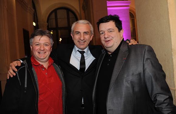 2. Olivier Pajet (Ame Sœur), Sedat Kartal (CCI Franco Turque) et Christophe Marguin, président des Toques blanches du monde