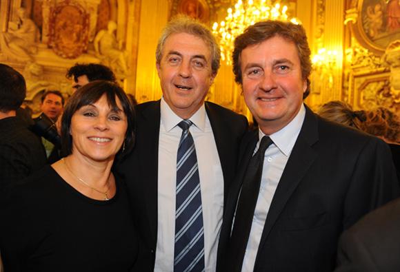 21. Maître Richard Brumm, adjoint aux Finances, son épouse Dominique et Hervé Bal (Editions HB)