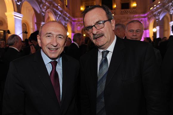 21. Gérard Collomb, sénateur-maire de Lyon et Jean-François Carenco, préfet du Rhône