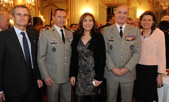22. Hervé Mariaux (CGPME), le colonel Gilles Coulougnon, Nora Berra, député européen, le général Martial de Braquilanges, gouverneur militaire de Lyon et son épouse Elisabeth