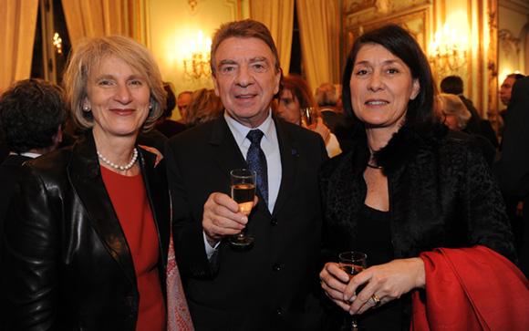 23. Dominique Nachury, député du Rhône, Bernard Fontanel, président du Medef Lyon Rhône et Marie-Christine Herrbach