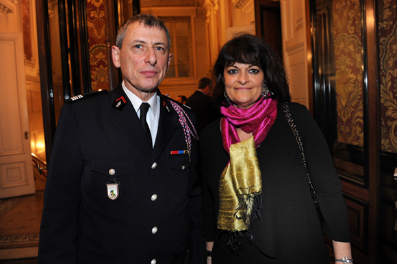 24. Le colonel Serge Delaigue et son épouse Catherine