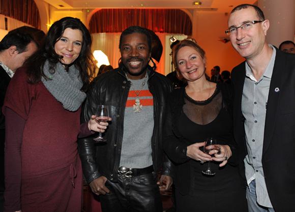 24. Roxana Bulmez (Le Progrès), le créateur Anggy Haïf, Zoé Flachat (Cityvision) et Didier Lavroff