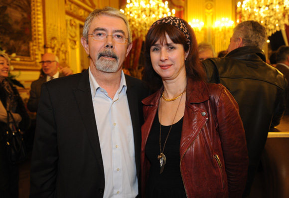 29. Jean-Pierre Flaconnèche, maire du 7ème  et Agnès Benoist, responsable des relations presse de la ville de Lyon