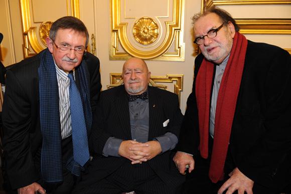 37. Yvon Deschamps, Robert Batailly et l'architecte Didier-Noël Petit