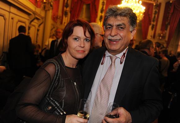 38.  Sandrine Neuzeret (Aujourd'hui & demain) et Manan Atchkezai, président de la SFIP