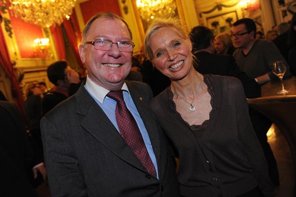 40. Philippe Bordier, consul de Russie et l'artiste peintre Marie-Agnès Mauroz
