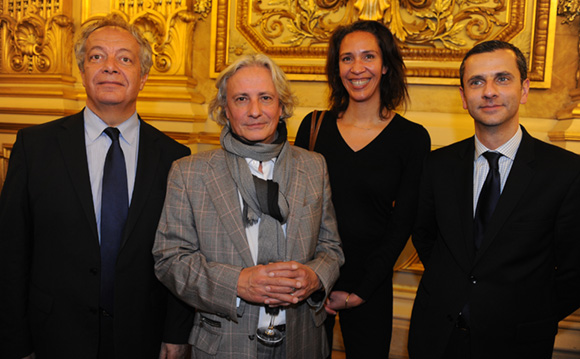 44. Philippe Grillot, président de la CCI de Lyon, le journaliste Jacques Boucaud, maitre Florence Cottin-Perreau et Ronald Sannino (CCI)