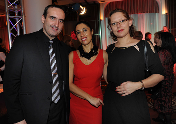 44. Bertrand Poble (Hippopotamus), Marta Pardo-Badier (Mercure Château Perrache) et Sabrina Poble (Agence Sab Cérémonie)