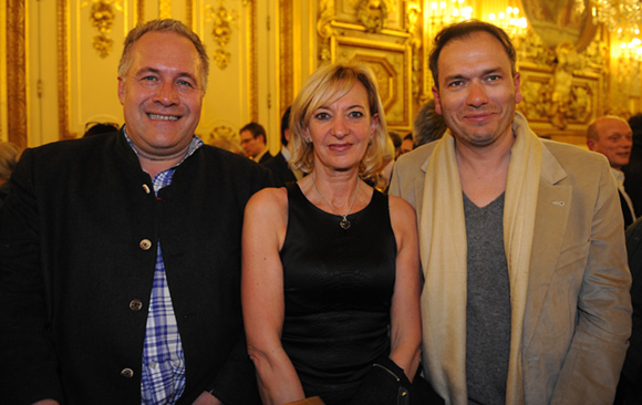 46. Laurent Duc, président UMIH, Marie-Odile Fondeur, adjointe au Commerce et Pierre Chambon, vice-président UMIH
