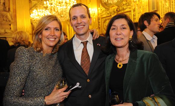 48. Isabelle Sabran, responsable du protocole Ville de Lyon, Mark Andrew Schapiro, consul des USA et Marie-Christine Herrbach