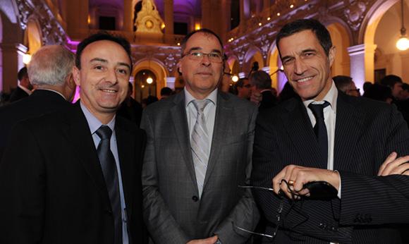 8. Serge Superchi, greffier du Tribunal de commerce, Yves Chavent, président du Tribunal de commerce et Marc Cimamonti, procureur de la République