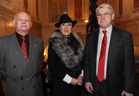8. Jean Laroche, président LH DPLV, son épouse Angèle et Jean-Louis Baglan, directeur académique du Rhône