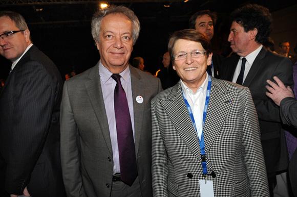 10. Philippe Grillot, président de la CCI de Lyon et Josiane Beaud, directrice régionale SNCF