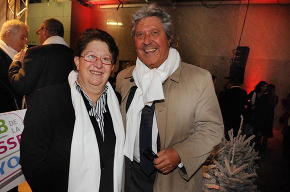 10. Jeanine Paloulian, présidente du Club de la Presse et Roland Bernard, vice-président du Grand Lyon