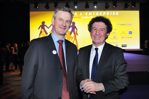 11. Pierre Fanneau (Le Progrès) et Alexandre Tachdjian, conseiller général de l'Ain