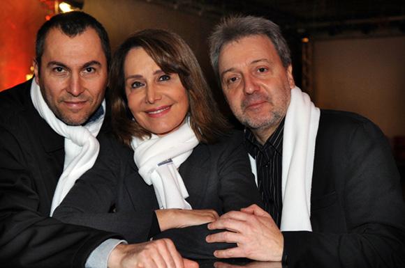 1. Fabrice, Françoise Petit (Lyon People) et Jean-Jacques Billon (Coz Magazine)