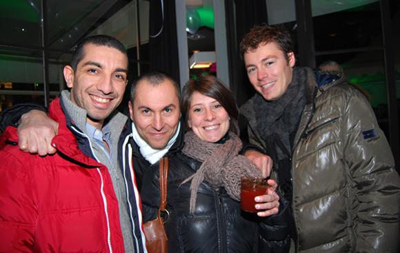 11. Dalil Merad (DcomMedia), Fabrice (Lyon People), Stéphanie Allaix (Opéra de Lyon) et Bruce Mathieu (Coyote Publiciz)