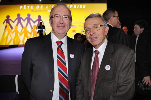 12. Michel Le Ray (Publiprint) et Jean-Luc da Passano, vice-président du conseil général
