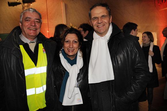12. Michel Roignot, Anna Pacitto (Sytral) et François-Noël Buffet, sénateur-maire d'Oullins