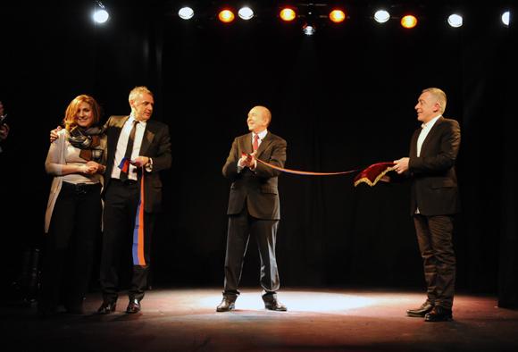 Le duo comique Collomb-Berra s'invite à l'inauguration du Comédie-Odéon
