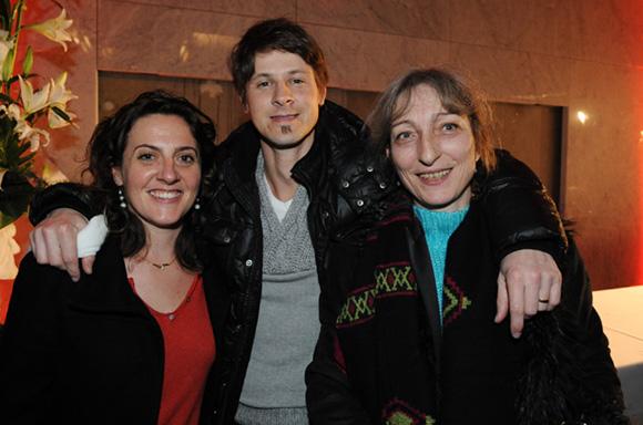37. Caroline Girardon (20 Minutes), Jean-Luc Boujon (Europe 1) et Jocelyne Meggiolaro (Club de la presse)