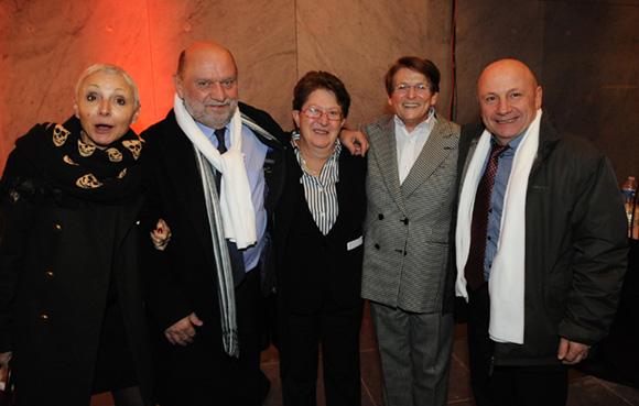 41. Marie-José Gherardi (Le Progrès), Pierre-Yves Margain (cabinet du maire de Lyon), Jeanine Paloulian, présidente du Club de la Presse, Josiane Beaud, directrice régionale de la SNCF et Jean-Claude Lassalle (Le Progrès)