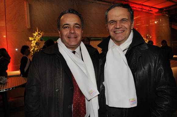 44. Denis Broliquier, maire du 2ème et  François-Noël Buffet, sénateur-maire d'Oullins