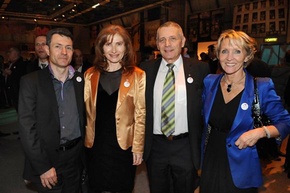 62. Damien Simon (Colas), Isabelle Gonon (Byblos Security Systems), Jean-Paul Bernard et Michèle Hingrez