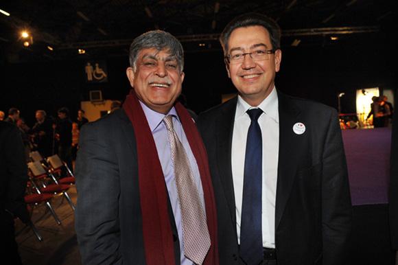 8. Manan Atchkezai, président de la SFIP et Philippe Cochet, député-maire de Caluire