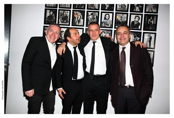 9. Stéphane Casez, Patrick Timsit, Philippe Giangreco et Denis Broliquier, maire du 2ème