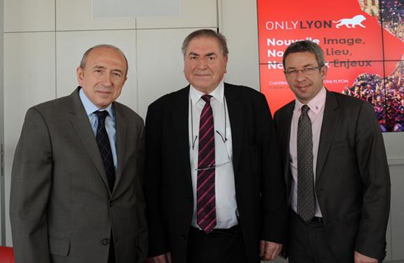 11. Gérard Collomb, sénateur maire de Lyon, Daniel Martin, conseiller général et Lionel Flasseur (OnlyLyon)
