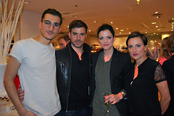 11. Sasha, Sandro, Aurélie (agence Glady's Models) et Sabrina (Printemps)