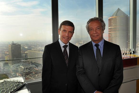 2. Jacques de Chilly (Aderly-Invest In Lyon) et Philippe Grillot, président de la CCI de Lyon