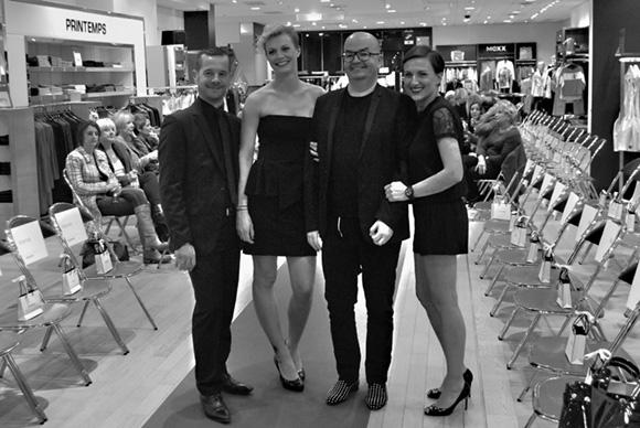 21. Frédéric, Déborah, le styliste Marc et Sabrina (Personal Shoper Printemps)