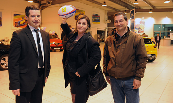 28. Raphaël Lonegro (Renault Lyon Ouest), Isabelle Desnos (Kardol) et Georges Ribeiro