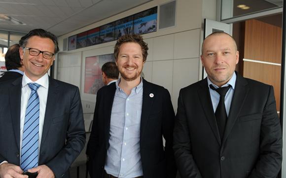 3. Arnaud Besson (Aéroports de Lyon), Olivier Occelli et François Gaillard (OnlyLyon Tourisme & Congrès)