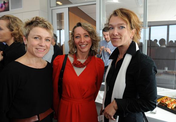 34. Hélène Badon-Murgue (Sanofi), Valérie Charriere-Villien (CCI Lyon) et Nathalie Mermet (Biotech Info)