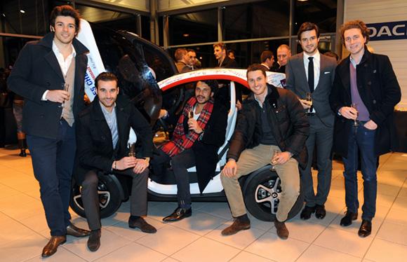 34. Guillaume Baudin (France EDL), Edouard Gleizal (AMS Moto Assure), Thomas Effantin, Philippe Chuzel, Maxime Levotre (Groupe Levotre) et Benjamin Chalvin, architecte d'intérieur