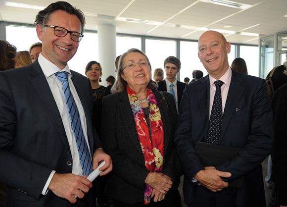 35. Arnaud Besson (Aéroports de Lyon), Nicole Hoffmeister (Classe Export) et Philippe Bernand, directeur général des Aéroports de Lyon